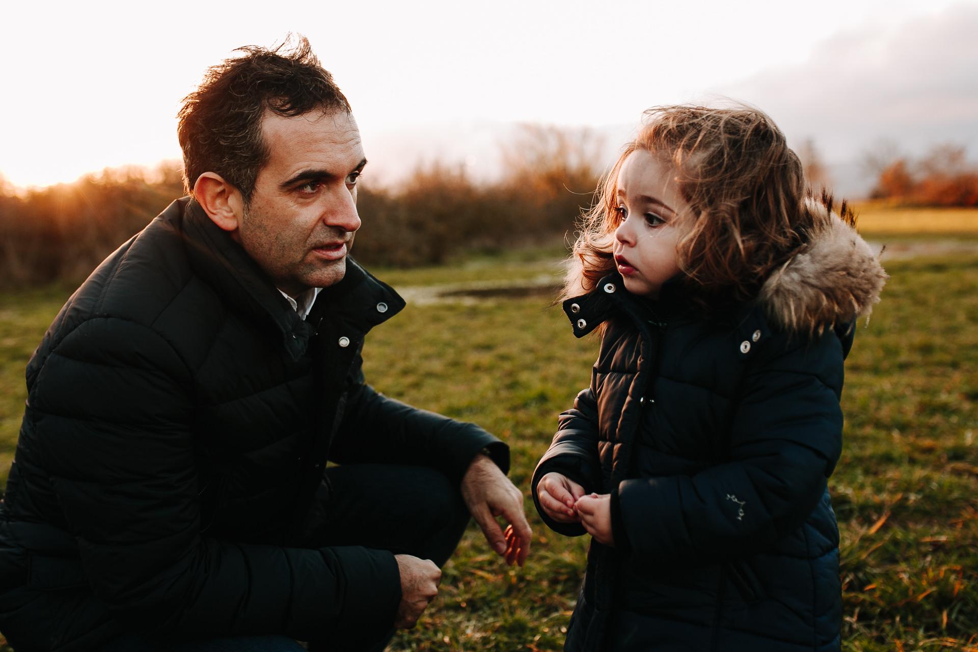 fotos familia atardecer barcelona