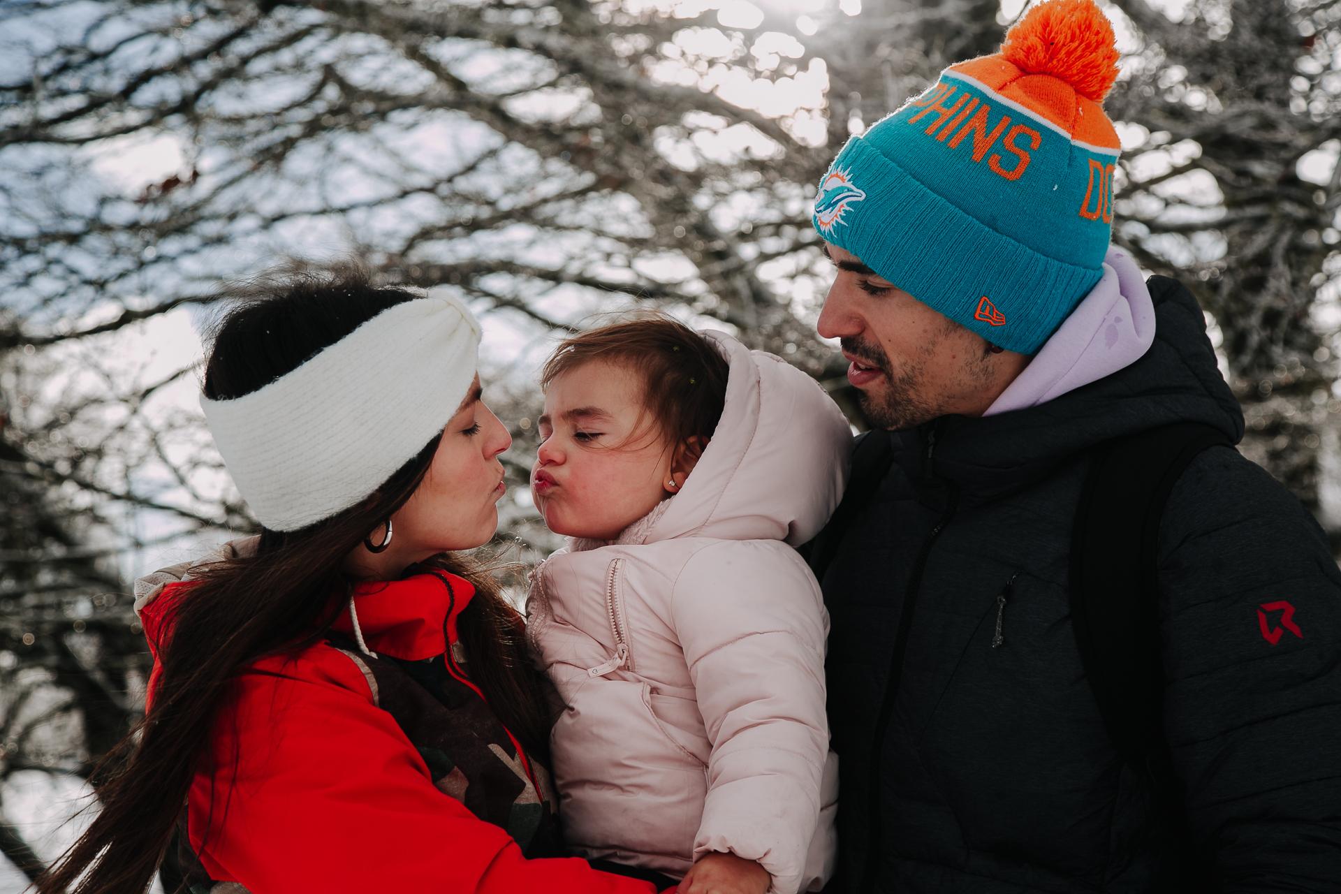 fotos familia nieve reportaje infantil