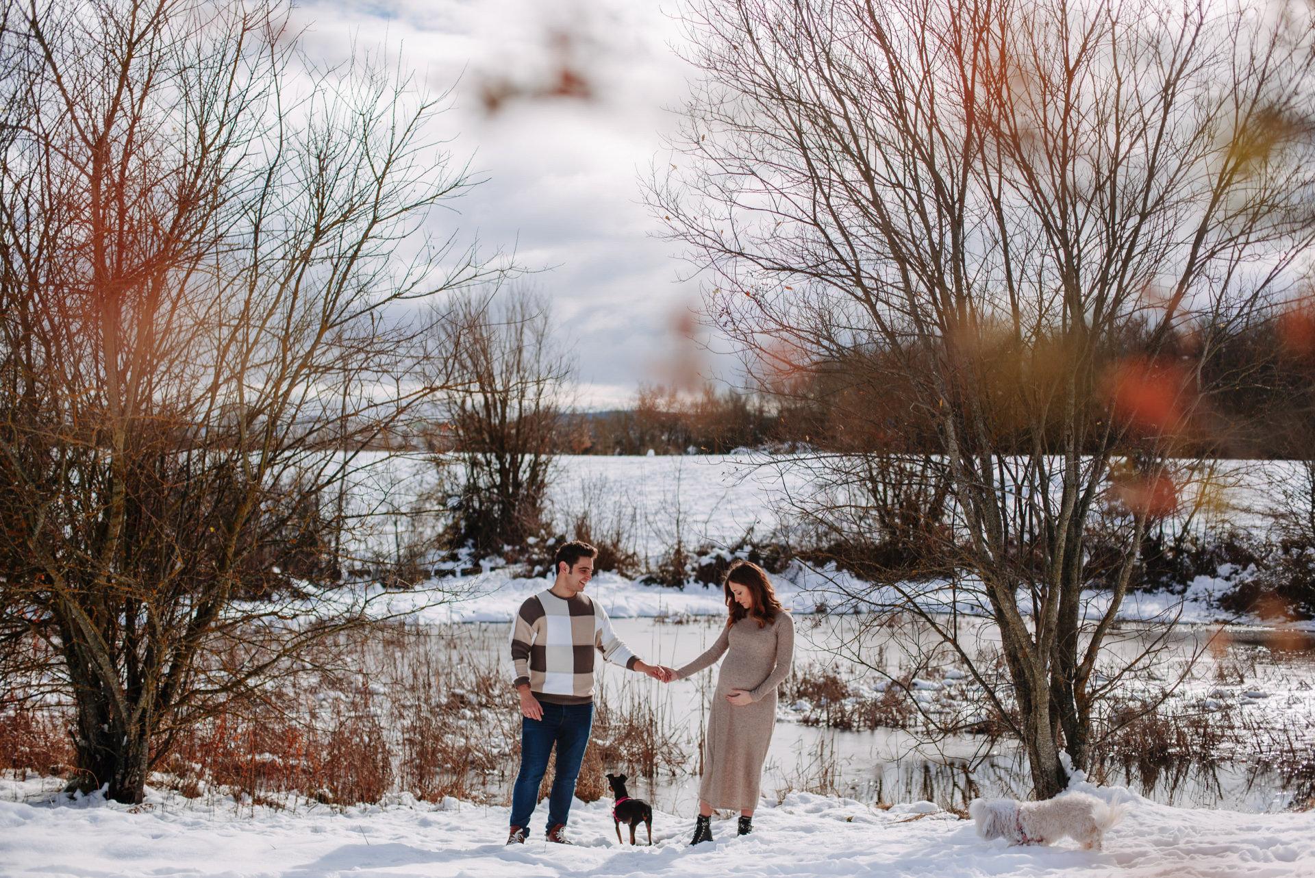 fotos de embarazo en la nieve