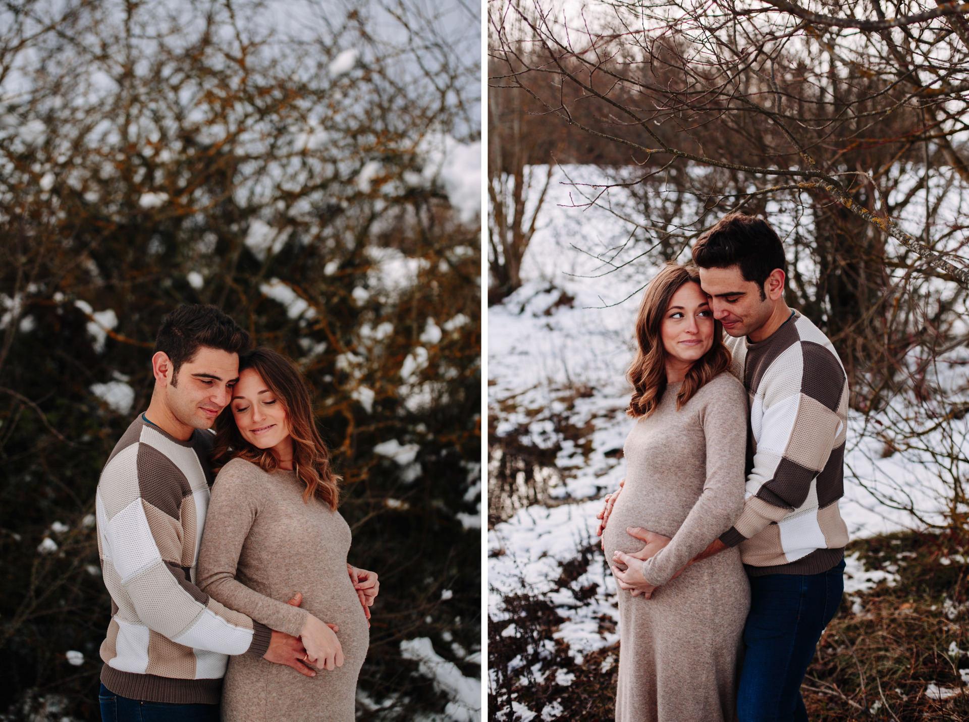 fotos embarazo premama nieve