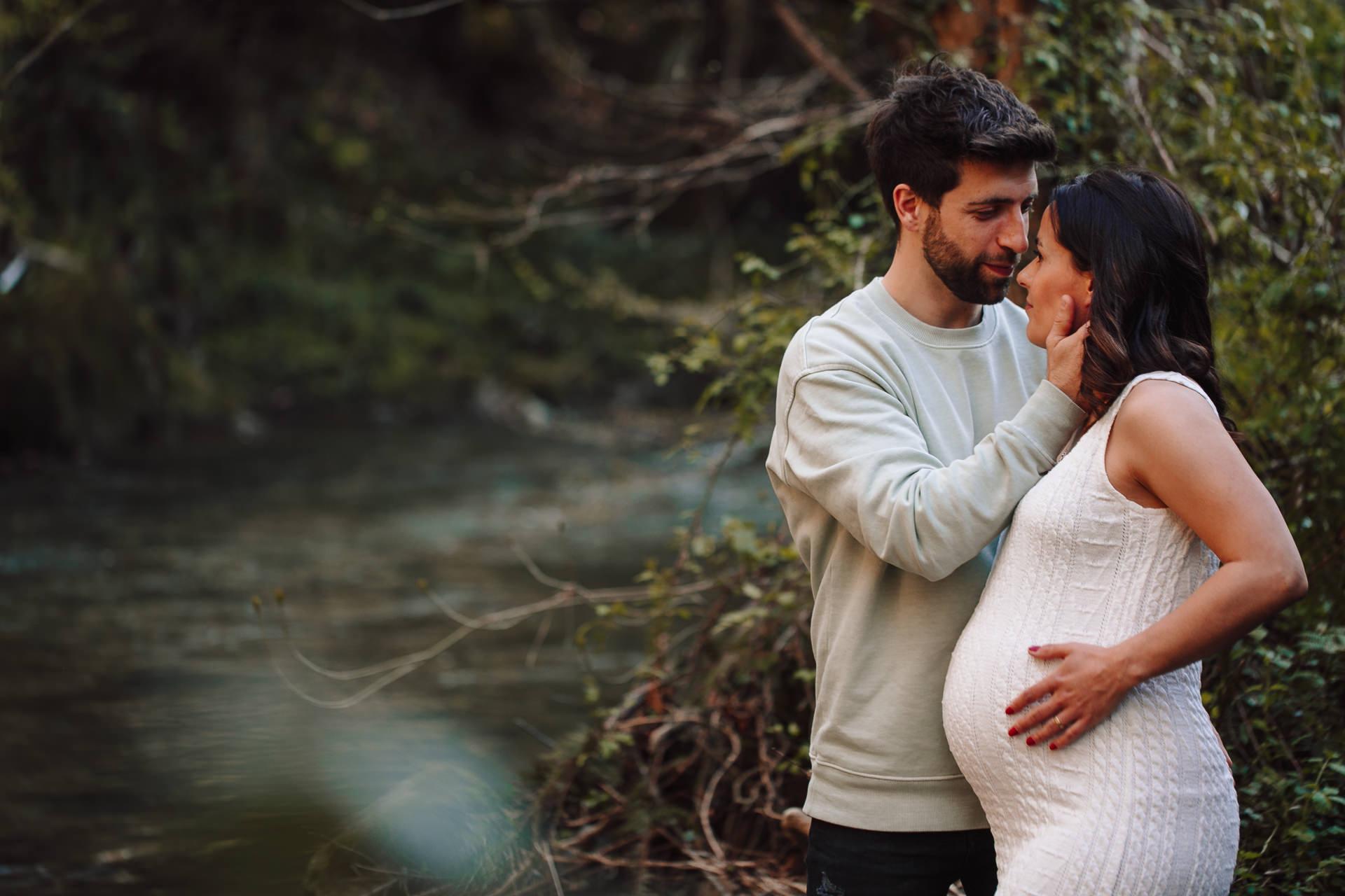 reportaje fotos embarazada en la playa