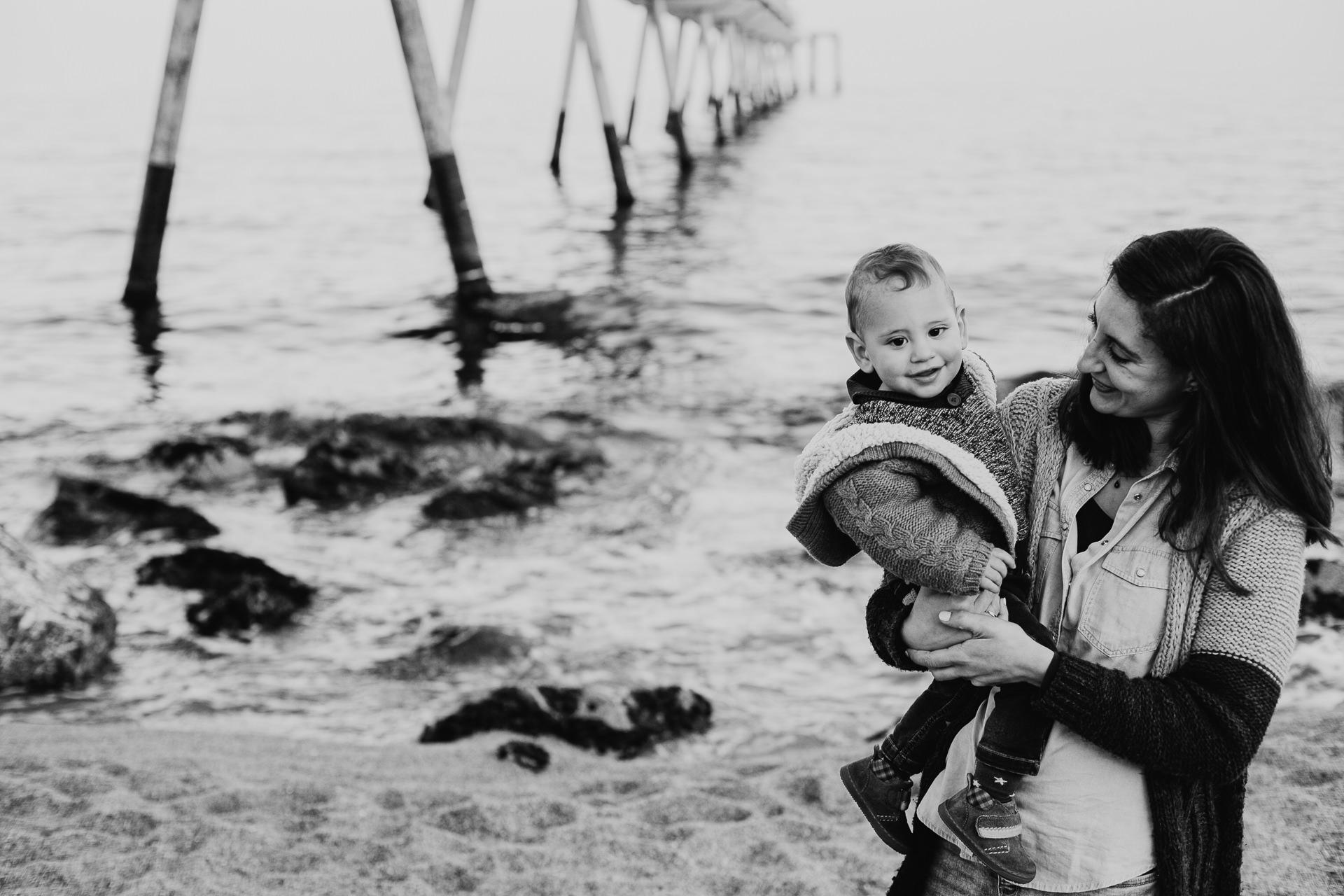 sesion fotos infantil playa pont petroli badalona